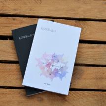 Reisebuch -Die Welt- Cover weiß und schwarz, Reisetagebuch