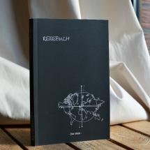 Reisebuch -Die Welt- cover schwarz, Reisetagebuch