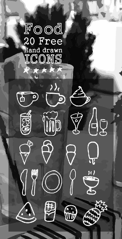 food-20 hand drawn icons