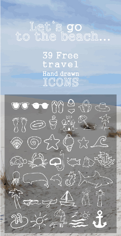 lets-go-to-the-beach-39-travel-hand-drawn-icons
